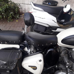 Rider Backrest, royal Enfield, Classic, Dochaki